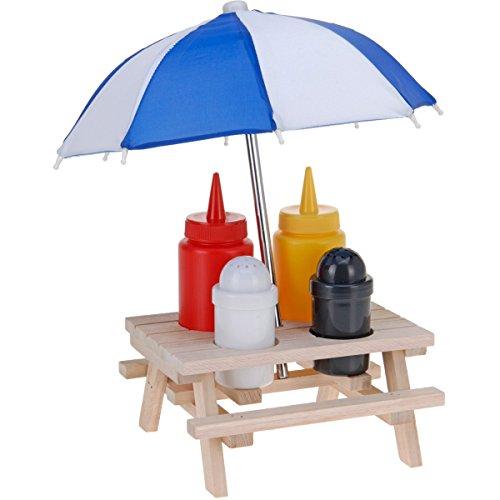 Picknicktisch mit Regenschirm