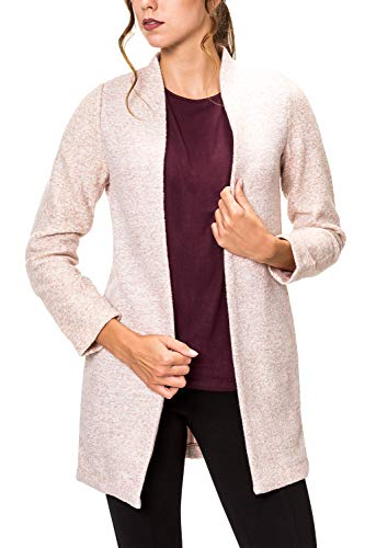ONLY Damen Long Blazer Kurzmantel Damenjacke Übergangsmantel (S, Misty Rose)