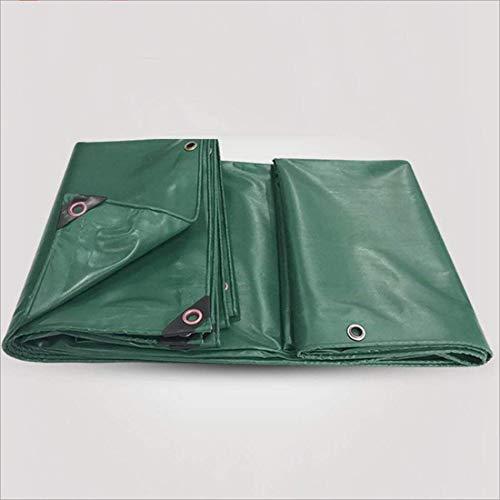 Waterdichte regendichte high-performance doek Premium kwaliteit PVC vloerbedekking Multifunctionele dekzeil vrachtwagens plantenhuis (kleur: groen grootte: 5 m en 6 m)