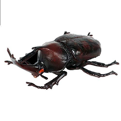 JOKFEICE Figuras de Animales realistas Figuras de Escarabajo Rinoceronte japonés, Proyecto de Ciencia, decoración de Pasteles, cumpleaños para niños(tamaño Grande)