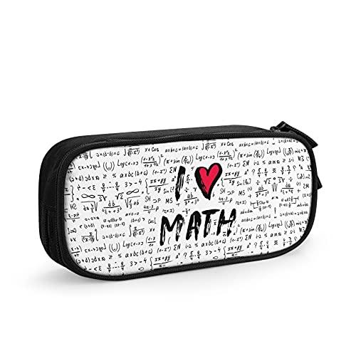 Estuche para lápices I Love Math Papelería Bolsa de almacenamiento de juguetes de descompresión para niños, organizador de papelería de oficina, regalos de temporada escolar, regalos de Navidad