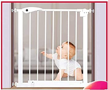 Mirui Sécurité Pression Fit Porte en métal Supports 75cm de Haut La Largeur Peut être sélectionnée de 75 à 172cm Porte bébé Pet Porte avec Les Extensions Disponibles (Color : White, Size : 115~122cm)