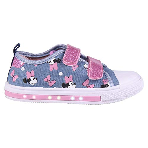Cerdá 2300004707_T023-C56, Zapatillas Loneta Niña de Minnie Mouse-Licencia Oficial Disney, Azul y Rosa, 23 EU