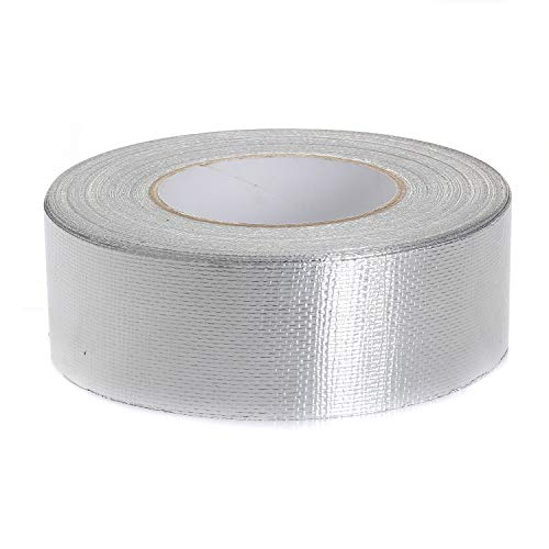 TUKA-i-AKUT 50mm x 50 Meter Aluminiumband Netzverstärkt, Aluminium Klebeband Rolle Isolierband Abdichtband Selbstklebend, Aluminiumklebebänder verstärkt mit Glasgittergewebe, TKD5022