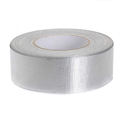 TUKA-i-AKUT Cinta reforzada adhesiva de aluminio con malla di rinforzo, 50mm x 50 metros, cinta aislante autoadhesiva + con refuerzo de malla de fibra de vidrio + cinta autoadhesiva, TKD5022