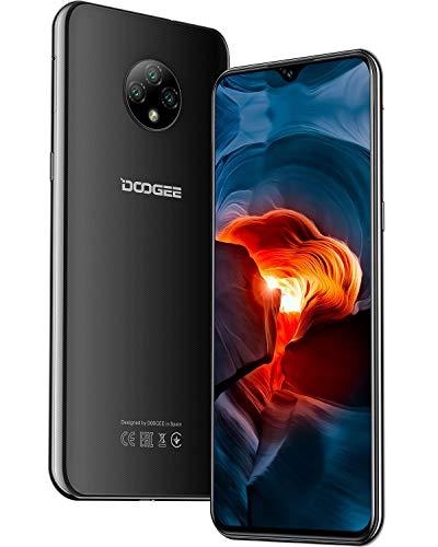 Moviles Libres, DOOGEE X95 Smartphone Libre 2020, 6.52 Pulgadas 19.5:9 HD+ Pantalla 4G Telefonos, 4350mAh, 13MP+2MP+2MP+5MP, Android 10.0 Smartphone, 16GB ROM,128GB SD, Dual SIM Face ID, Negro
