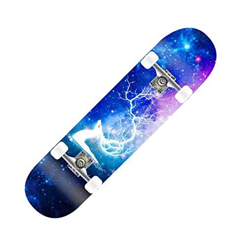 FANG Skateboard PRO Complete 31' x8 Doppiocalcio 7 Strati di Acero di Legno Longboard...