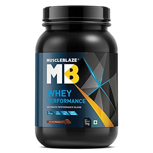 MuscleBlaze Whey Performance (Chocolate, 1 kg / 2.2 lb, 27 Servings)