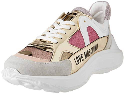 Love Moschino SS21, Baskets Femme, Rose, 35.5 EU