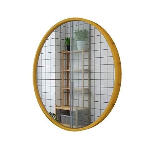 IG Maquillaje Espejo/Pared Colgando Espejo Decorativo/de Pared Espejo/Espejo de Pared Colgando Espejo Redondo/Espejo de Afeitado/de Afeitado Espejo Colgante Decorativo/Blanco,Oro,40 cm