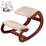 Kneeling Chair Stool,Furniture Rocking Wooden Kneeling Computer Posture Chair Design Correct Posture Anti-Myopia Chair