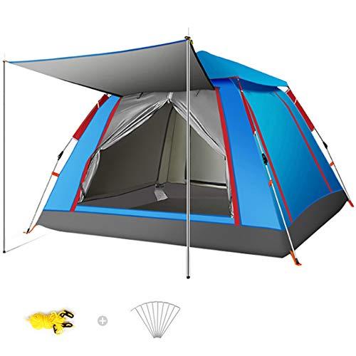 Wsaman 3-5 Personen Portable Beach Zelt Zelt, Pop Up Zelt Wurfzelt Campingzelt Pavillon Gartenzelt Festivalzelt Ultraleicht Einfache Einrichtung UV-Schutz für BBQ Strand Garten Tents Teepee,Blau