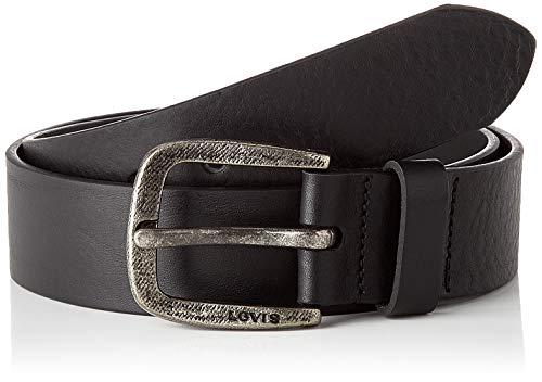 Levi's LEVIS FOOTWEAR AND ACCESSORIES Serge Belt Cintura, Black, 80 Unisex-Adulto