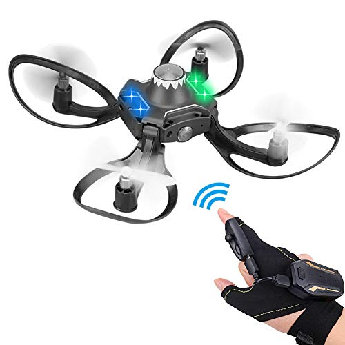 Vrlinking Mini Drone RC Gesture Remote Control 2.4Ghz Quadcopter for Kids and Beginners Helicopter Plane 3D Flip, Headless Mode and Batteries Light Up Flying Toys for Boys and Girls