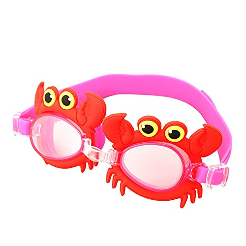 LYB Coloridos Niños Ajustables Niños Impermeable Silicona Anti Fog Shield Gafas Gafas Gafas Eyewear Gafas con Caja (Color : Crab, Eyewear Size : Children)