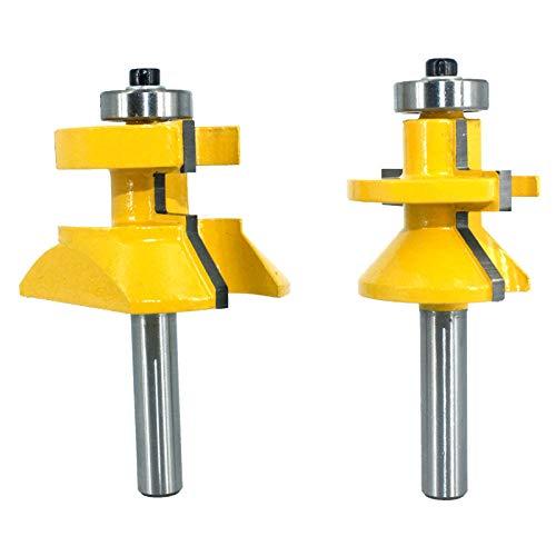 2 piezas 8MM mango 120 grados se instala enrutador trinchera de carpintería alianza de tungsteno posición de corte de tubo de madera