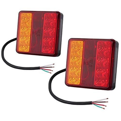 AUTOUTLET 2X Rückleuchten Set, 22LED Lichter Heckanzeige Anhängerbeleuchtung für KFZ LKW Anhänger 12V, mit Kennzeichenbeleuchtung Funktion, für Straßenverkehr zugelassen