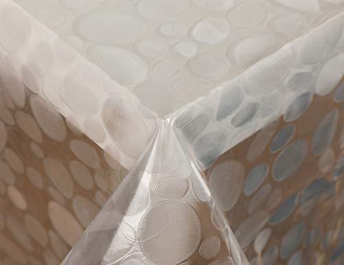 Vinylla - Tovaglia in PVC, facile da pulire, motivo a mosaico, colore: Trasparente, plastica PVC, Trasparente, 140 x 240 cm