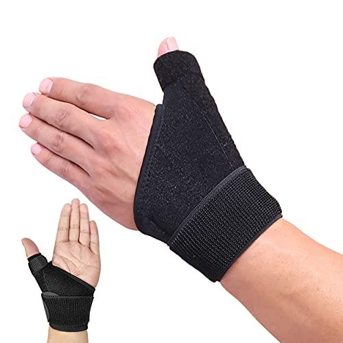 HiRui Wrist Brace Thumb Brace, Wrist Support Thumb Spica Splint for Men Women Kids, Wrist/Hands/Thumb Stabilizer for Sprains, Arthritis, Tendonitis, Carpal Tunnel, Pain Relief, Recovery - Adjustable (Left Hand - One Size)