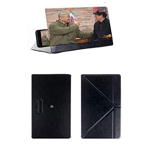 Gfbyq Bildschirm-Verstärker des Handy-3D, HD Faltender Desktop-Augenschutz-Handy-Video, Das Fernsehlupe Betrachtet (Farbe : SCHWARZ)