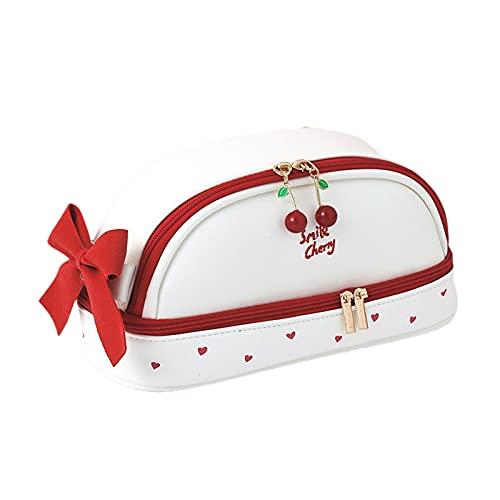 kowaku Niñas Maquillaje Cosmético Monedero Bolsa de Lavado Organizador Bolsa Papelería Estuche para Lápices Impermeable - B