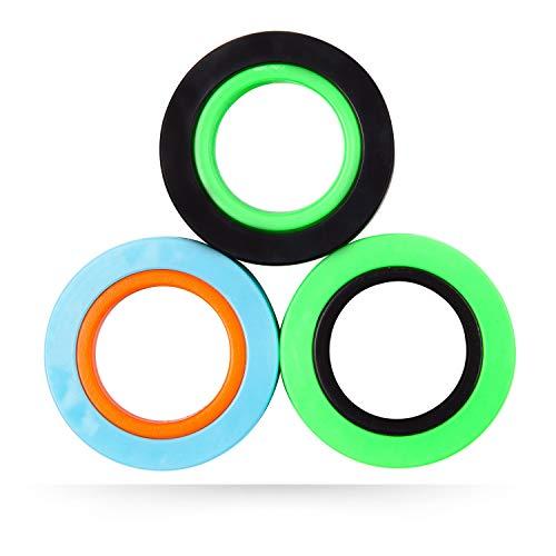 nixo Magnetic Rings Fidget Toy, Pack of 3, Frenzy Splash, Freestyle Rolling Finger Fidget Ring for...