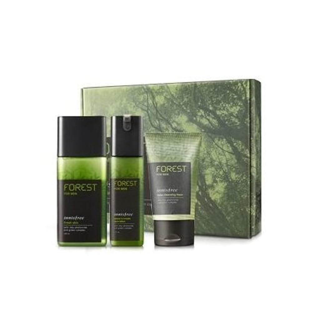 キャラバン詩公平KOREAN COSMETICS, Innisfree, Forest for men grooming set (Fresh Skin 180ml + sebum & Trouble Zero Lotion 120ml...