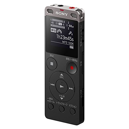 ソニー ステレオICレコーダー FMチューナー付 4GB ブラック ICD-UX560F/B