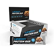 Legion Protein Bar - 100% Whey and Pea Protein, Baked Bars with Prebiotic Fiber - High Protein (20g) Low Fat (6g) Low Sugar (4g), No Soy or Gluten - Natural Flavors (12) (Chocolate Peanut Butter) …
