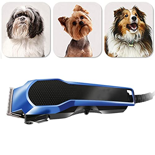 Dog Clippers Shaver 7W High Power for Thick Heavy Coats Quiet Plug-in Pet Electric Professional Hair Grooming Clippers kit with Guard Combs Brush for Dogs Cats and Other Animals