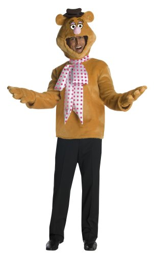 Disney The Muppets Fozzie Bear Costume, Brown, One Size