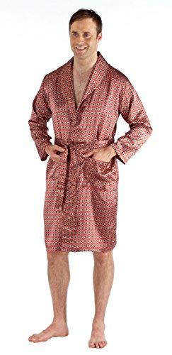 Harvey James Robe de Chambre Kimono en Satin Léger Homme (XL) Rouge