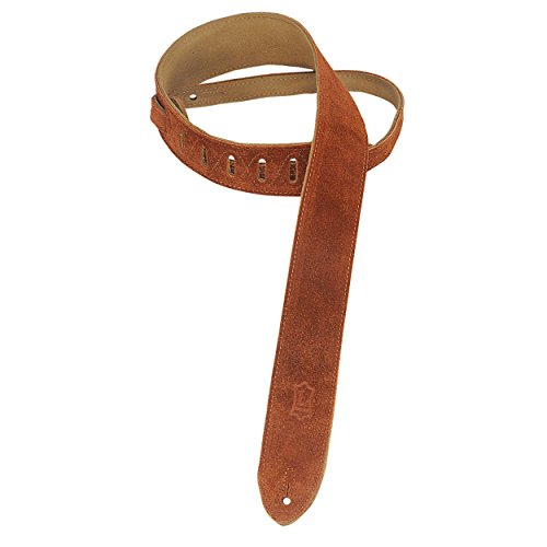 Levy's Leathers MS12-CPR 2' Hand-Brushed Suede Guitar Strap, Copper