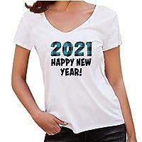 Oiwenjuanhレディース Tシャツ ラウンドネック 2021年の柄 ゆったり おしゃれ 涼しい 透気 柔らかい生地 シンプルなデザイン ふわふわ 春 夏 秋 服 白い トップス