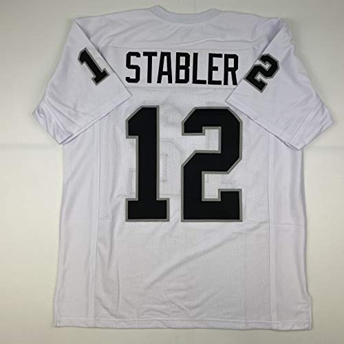 Unsigned Ken Stabler Oakland White Custom Stitched Football Jersey Size Men's XL New No Brands/Logos