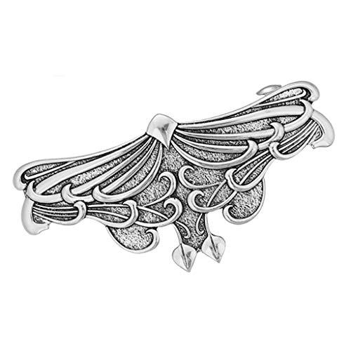 Vintage-Stil Haarspange Haarklammer Haarclip Haarklemme Metall Spange Hair Barrette Pin - Silber