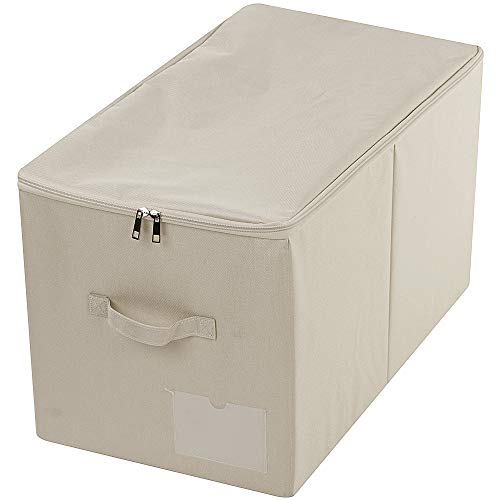 iwill CREATE PRO 56 x 32 x 33 cm (largo x ancho x alto), grandes cajas plegables con tapa, el tamaño se adapta a la serie SKUBB, bolsa de etiquetas, color beige