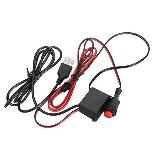 DJY-JY DC5V controlador USB controlador con botón para 1-6M LED Flexible Neon El Wire Strip Light