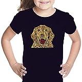 LA Pop Art Girl's Word Art T-Shirt - Dog Black Casual Short Sleeve X-Large