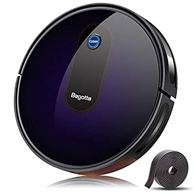 Robot Vacuum, Bagotte Upgraded 2000Pa Strong Suction Robotic Vacuum Cleaners, Boost Intellect, 2.7in Thin, Super Quiet, Self-Charging with Boundary Strips, for Hardwood Floor Carpet Tile Pet Hair