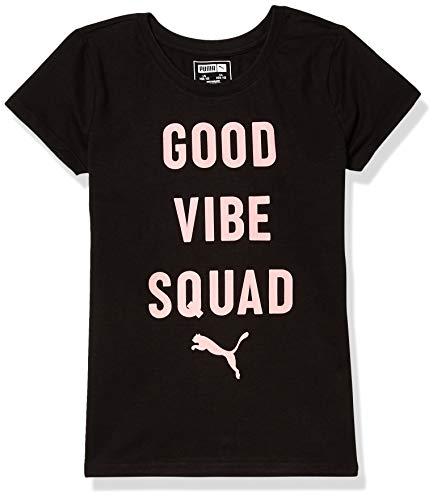 PUMA Girls' T-Shirt, Black, Small (7)