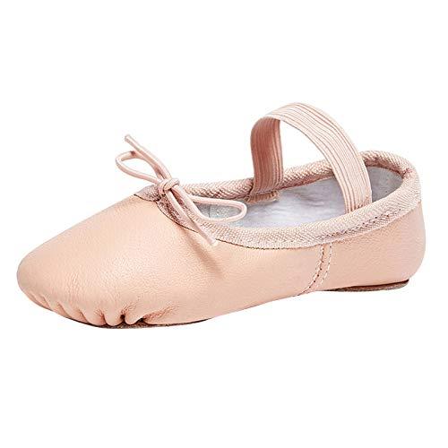 STELLE Premium Authentic Leather Ballet Slipper/Ballet Shoes(Toddler/Little Kid/Big Kid) (1.5MB, Ballet Pink)
