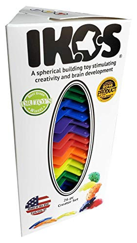 IKOS -Multi-Color Rainbow- Spherical Building Blocks- Fabulous Creative Outlet & Endless Possibilities