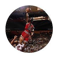 マイケル・ジョーダン Michael Jordan 掛け時計 置き時計 おしゃれ 時計 壁掛け 連続秒針 部屋装飾 卓上時計 25*25*0.5cm
