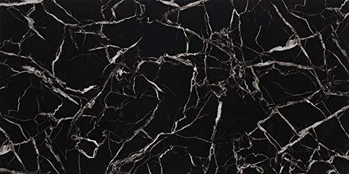 Deko Wandverkleidung in Marmor- und Granitoptik für Küche, Wohnzimmer, Wintergarten und Büroräume (Black White)