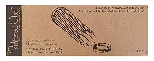 The Pampered Chef Scalloped Bread Tube -- Flower Design-- Molde Tubular -- Festoneado