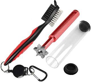 Hantox ゴルフ ブラシ ゴルフクラブ 清潔用 クリーナー 便利 軽量 アイアン溝のメンテナンスツール+両面携帯式ブラシ 2個セット