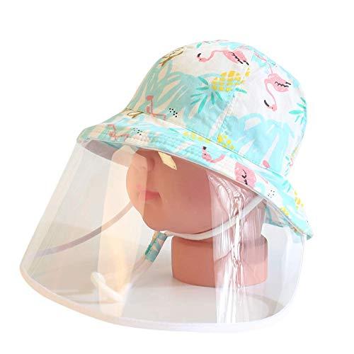 Cap bébé Anti Enfants, bébé en Coton Chapeau de Soleil garçon Bonnet de Douche Maman Protection Non Leaking pour prévenir Gouttelettes UV Anti-buée Couverture Visage,h,52cm