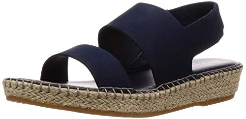 Cole Haan Women's CLOUDFEEL Espadrille Sandal 5.5 Medium US, Marine Blue Nubuck/Natural Jute/Gum