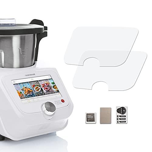 2 protectores de pantalla para Monsieur-Cuisine-Connect – Protector de pantalla ultra transparente compatible con SilverCrest Monsieur Cuisine Connect